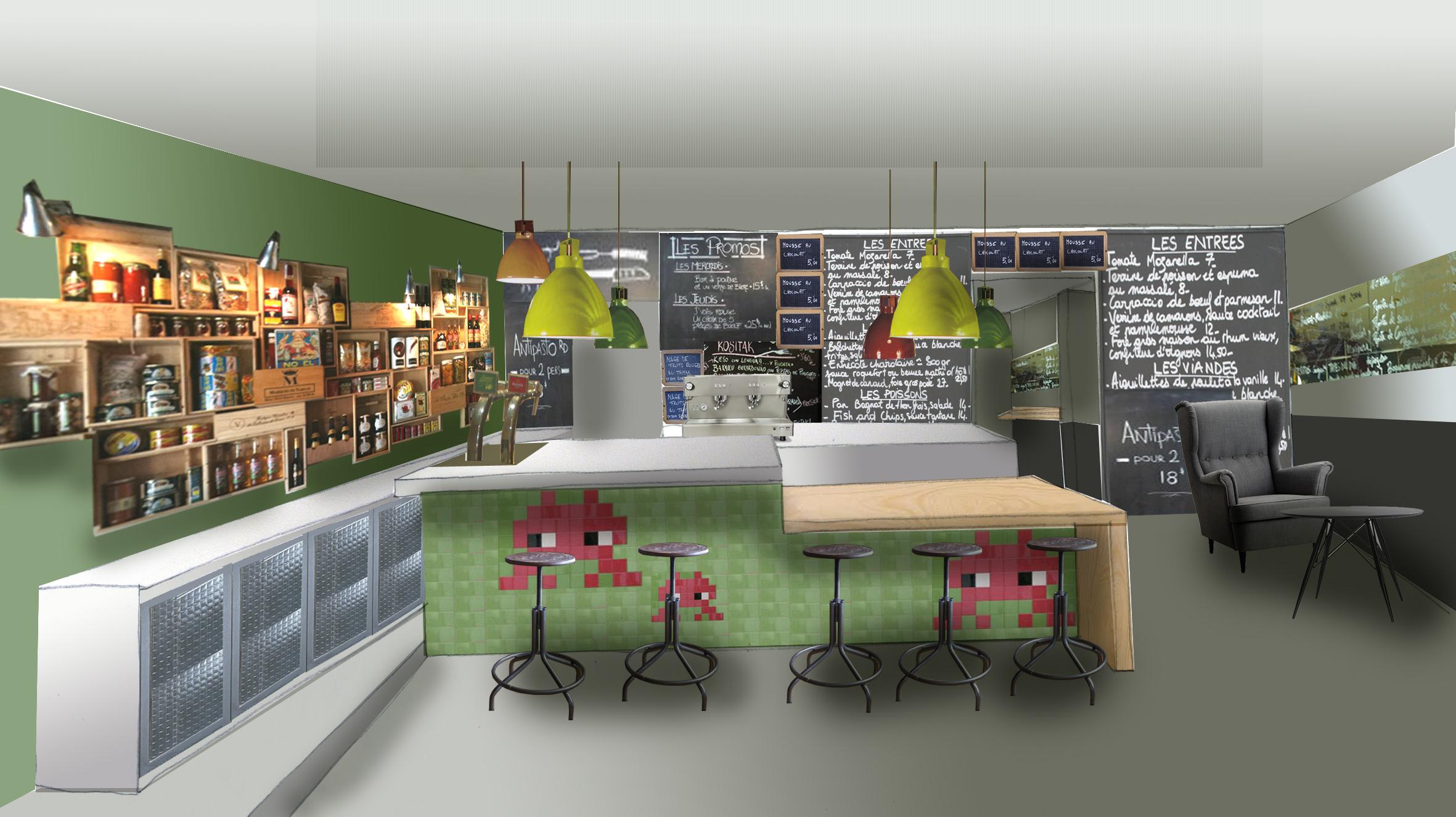 Exclusiva el nuevo bar que estamos haciendo les - Decoracion de bares de tapas ...